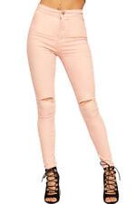 Jeans da donna colorati rosi
