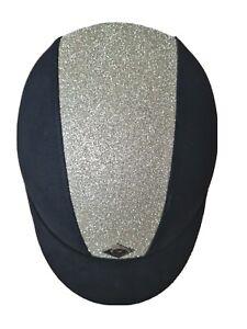 Charles Owen YR8 Sparkly Riding Hat - Black/ Silver 54cm