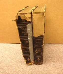 TOLEDO & LUCAS COUNTY beat-up 2-Volume Set books OHIO history 1623-1923