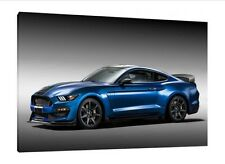 2016 Ford Shelby GT350R Mustang  30x20 Inch Canvas - Framed Picture Poster Art