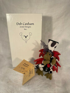 Vintage 1990's Deb Canham Signed Dappled Dragon Ltd. Ed Miniature Bear Tag/Box