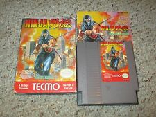 Ninja Gaiden 1 (Nintendo Entertainment System NES, 1989) Complete in Box GOOD