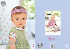 Libro del bebé siete Folleto de tejer King Cole comodidad Patrones De Punto Doble DK Niños
