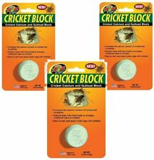 ZOO MED CRICKET BLOCK FOOD GUT LOAD CALCIUM GROUND. 3 PACK