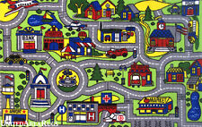 "4'3""x6'6""  Area Rug  Kid's  Play  Road  Map Street Driving Time Airport New  5x7"