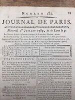 Etats Généraux 1789 Vendôme Constitution Crenière Louis 16 Clergé Révolution