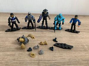 Halo Mega Bloks/Construx UNSC X5 Figures + Weapons & Spares In VGC