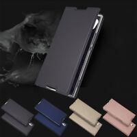 For Sony Xperia XA1XA2 XZ1 XZ2 Z5 Slim Leather Flip Wallet Magnetic Case Cover