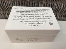 Personalised In Memory Of Box Loved One ~ MUM ~ MAM ~ any Name Bereavement Loss