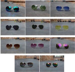 Sonnenbrille Pilot Brille Fliegerbrille Herren Damen Unisex Style Aviator
