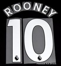 Everton Rooney 10 2017/18 Premier League Football Shirt Name/Number Set EPL