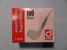 100 St. denicotea Filter 3 mm - Papier - NEU - 101502