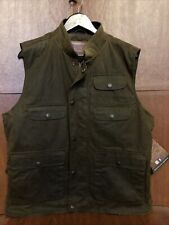 NWT OUTBACK TRADING 2153 OVERLANDER Flannel Lined WAXED COTTON OILSKIN Vest