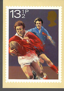 GREAT BRITAIN -  RUGBY - 925 ON POST CARD PHQ47(b) - 1980