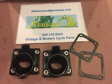 Yamaha RD350 RD400 28mm/30mm Carb Intake Manifold Kit + gaskets With Ports NEW!