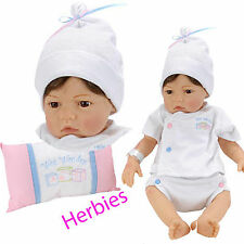 Lee Middleton Dolls  Newborn Nursery Wee Wonder Tiny Love Brown Hair, Brown Eyes