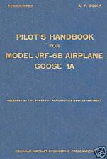 GRUMMAN JRF-6B GOOSE 1A - PILOT'S HANDBOOK A.P. 2090A