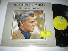 LP/JOHANNES BRAHMS/KARAJAN/INTERPRETATION/UNVERKÄUFLICHE VORFÜHRPLATTE DGG tulip