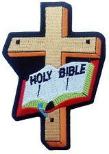HOLLY BIBLE CHRISTIAN CROSS GOD INFIDEL JESUS IRON ON PATCH