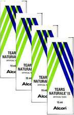 4x Alcon Tears Naturale II Artificial Tears Eye Drop 15 mL(0.5FL OZ) For Dryness