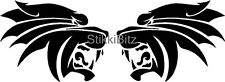 Tribal Panther Cat Head Car Camper Van Land Rover Window Bike Stickers Decals #1