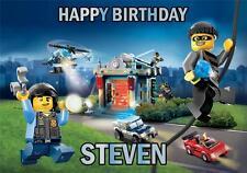 PERSONALISED LEGO CITY POLICE BIRTHDAY CARD