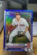 2021 Blaze Jordan Topps Bowman Chrome Mega Box BLUE Mojo Blue #/150