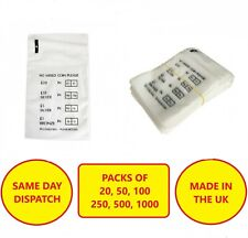 More details for plastic coin bags no mixed coins money bank retail change denominated bag
