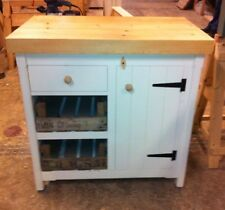 Rustic Bespoke Pine Freestanding Kitchen Unit Cupboard Draw Trays Centre Island