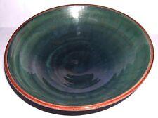 Wold Studio Pottery - Harome N.Yorks - Hand Thrown - Lustre Glaze 20cm Bowl.