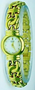 New Ladies Citizen Watch Gold Plated Stainless Steel Mother of Pearl Dial Face
