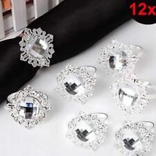 Napkin Rings 12pcs Rhinestone Napkins Holder Wedding Party Decoration