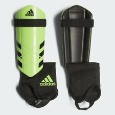 "Adidas Ghost Guard Soccer Shin Guards Solar Green Black Youth L 4'7""-5'2&# 034; Kids"