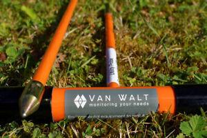 4 x VAN WALT  SOIL PEAT SOFT GROUND SCIENTIFIC PROBES  120CM + 2 94CM EXTENSIONS