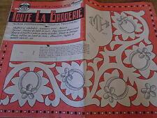 ANCIEN **ALBUM POUR LE TROUSSEAU TOUTE LA BRODERIE PT DE CROIX N°83 1960