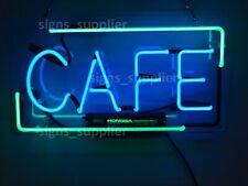 "New Cafe Coffee Shop Neon Sign Acrylic 17"" Light Lamp Bar Decor Artwork Glass"