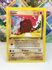Digda 1.Edition Pokémon Karte - Team Rocket 52/82 Deutsch - Low Played