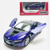 Kinsmart 1:36 Die-cast BMW i8 Car Purple Model with Box Collection New Gift