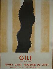 MARCEL GILI  ANCIENNE AFFICHE LITHOGRAPHIE 1977 MUSEE D'ART MODERNE DE CERET