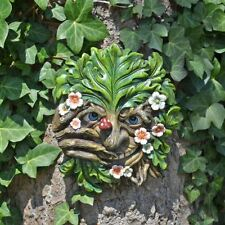 Cheeky Nose Treant Face Wall Plaque Garden Ornament Greenman Wiccan Pagan