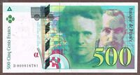 """France """"Marie & Pierre Curie"""" (1994) HI-$$ 500-Francs {SINGLE} VF+/XF Note: P160"""