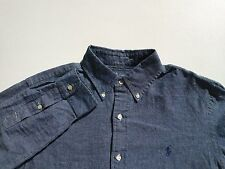 Polo Ralph Lauren Custom Fit Mens Denim Button Front Shirt Size Medium M