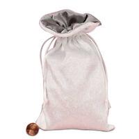 Satin Lined Velvet Bags 5 x 8 Silver Grey Pendulums, Runes, Tarot Cards Talisman