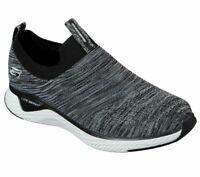 Slipon Skechers Black Shoe Men Comfort Soft Casual Memory Foam Walk Fabric 52759