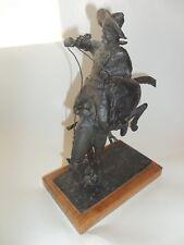 Bronze Bucking Horse & Cowboy By Millar 2/200 1980