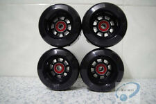 black  8044 80A PU wheels for longboard skateboard set of 4