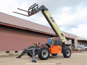 2013 JLG G12-55A 55' 12,000 lbs Telescopic Reach Forklift Cab A/C 12K bidadoo