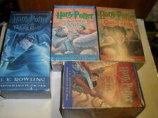 Harry Potter Unabridged Book Lot four Volumes Audio Cassette Tape