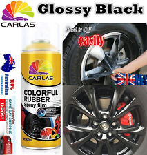 5x Glossy Black Removable Rubber Paint Plasti Dip Wheel Rim Spray Rubber Paint