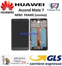 HUAWEI MATE 7 NERO con FRAME (cornice) DISPLAY LCD TOUCH COMPLETO  - Sped 24h